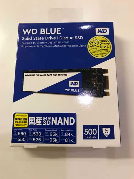 WDのSSD(m.2 Type2280)